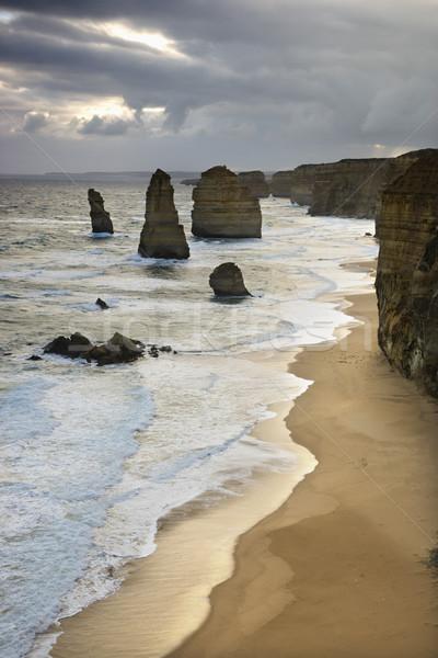 Landforms on coastline. Stock photo © iofoto