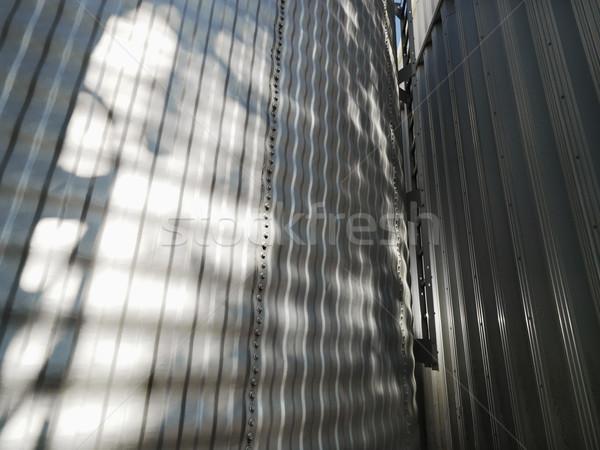 Steel silo close up. Stock photo © iofoto