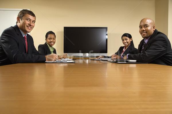 Foto stock: Escritório · reunião · sessão · conferência · tabela