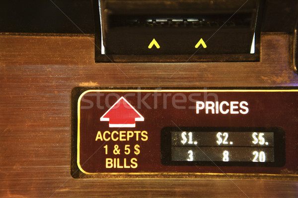 Jukebox money slot. Stock photo © iofoto