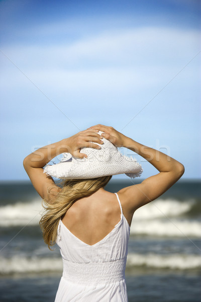 Woman on the Beach Stock photo © iofoto