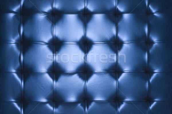 Bleu cuir coussin couleur Photo stock © iofoto