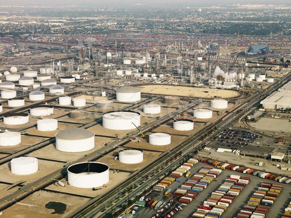 Aéreo refinería de petróleo líquido almacenamiento Los Ángeles Foto stock © iofoto