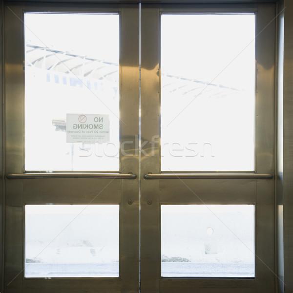 Double doors. Stock photo © iofoto