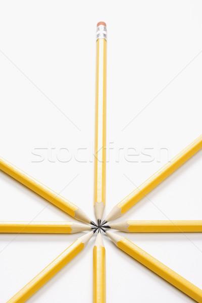 Lápices estrellas forma fuerte simétrico negocios Foto stock © iofoto