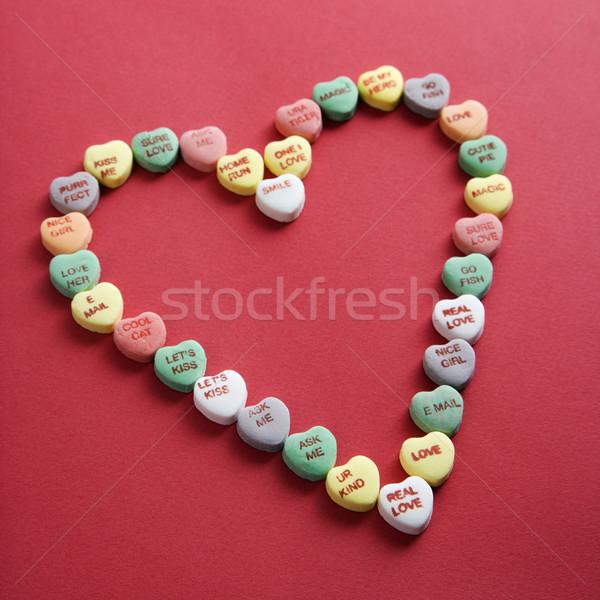 şeker kalpler kırmızı renkli biçim Stok fotoğraf © iofoto