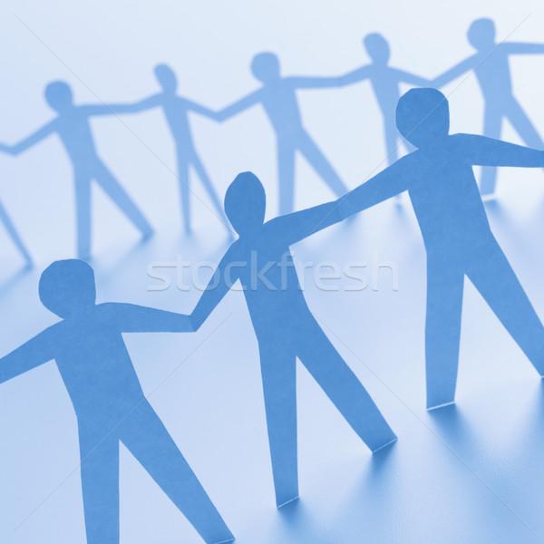 Men standing together Stock photo © iofoto
