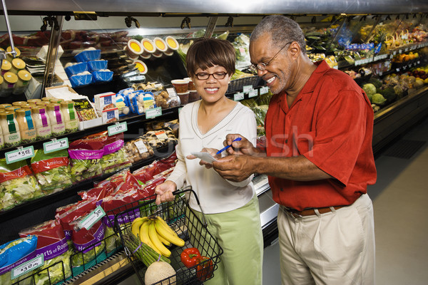 çift bakkal orta yaşlı adam kadın Stok fotoğraf © iofoto