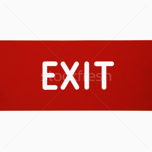 Kijárat jelzés fehér felirat levél szín stúdió Stock fotó © iofoto