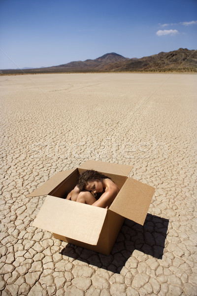 Nude woman in desert. Stock photo © iofoto