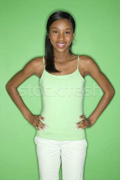 Pretty teen girl. Stock photo © iofoto