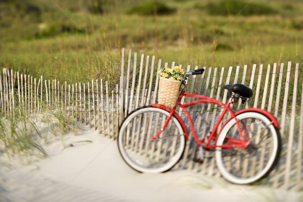 Bicycle at beach. Stock photo © iofoto