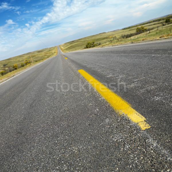 Two lane road South Dakota. Stock photo © iofoto
