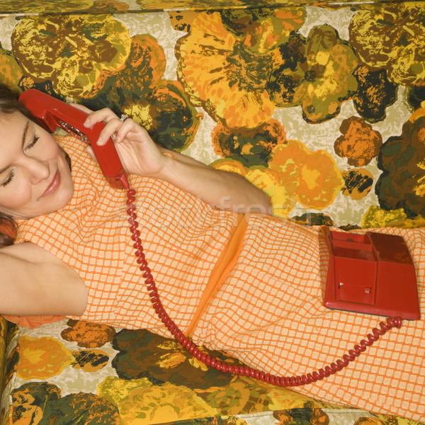 Woman on telephone. Stock photo © iofoto
