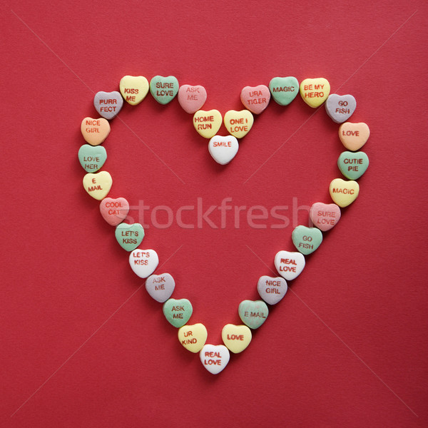 Foto stock: Dulces · corazones · rojo · colorido · refranes · forma