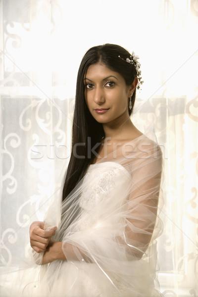 портрет индийской невеста женщину свадьба Сток-фото © iofoto