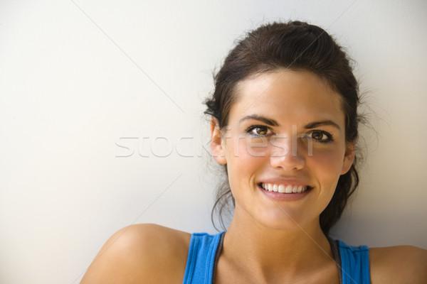 ストックフォト: フィットネス女性 · 肖像 · 頭 · 肩 · 女性 · フィットネス