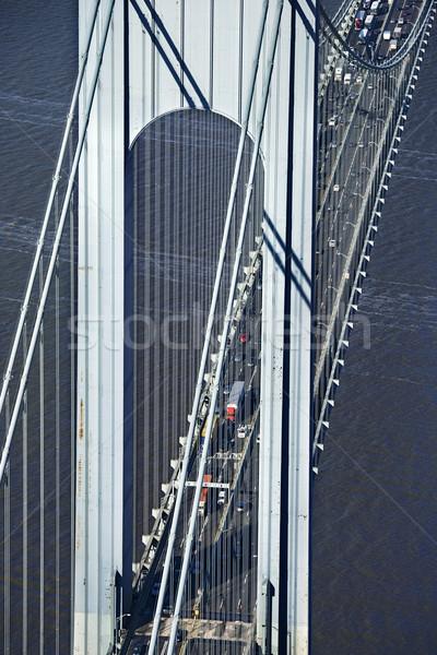 橋 ニューヨーク トラフィック 旅行 鳥 ストックフォト © iofoto