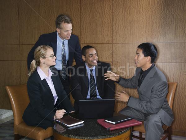 Spotkanie różnorodny grupy biznesmenów kobieta interesu Zdjęcia stock © iofoto
