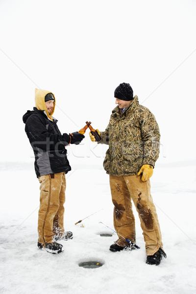 Two Men Having a Beer Stock photo © iofoto