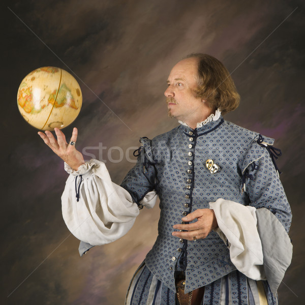 Shakespeare with globe. Stock photo © iofoto