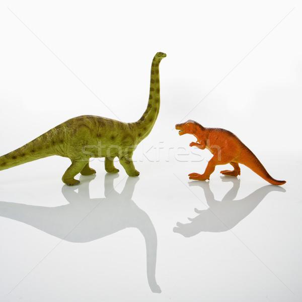 恐竜 おもちゃ プラスチック おもちゃ モデル 色 ストックフォト © iofoto