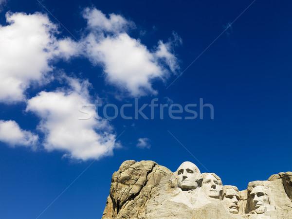 ラシュモア山 青 曇った 空 顔 山 ストックフォト © iofoto