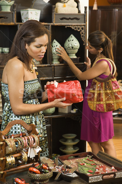 Donne boutique african american indian shopping colore Foto d'archivio © iofoto