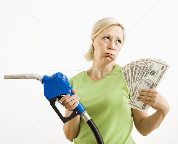 Infeliz mujer dinero retrato adulto Foto stock © iofoto