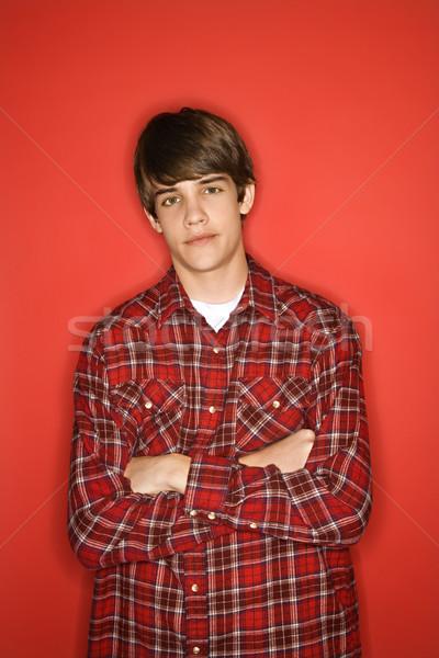Portrait of teen boy. Stock photo © iofoto