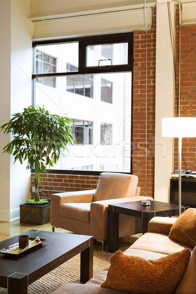 Vliering appartement wonen home woonkamer kleur Stockfoto © iofoto
