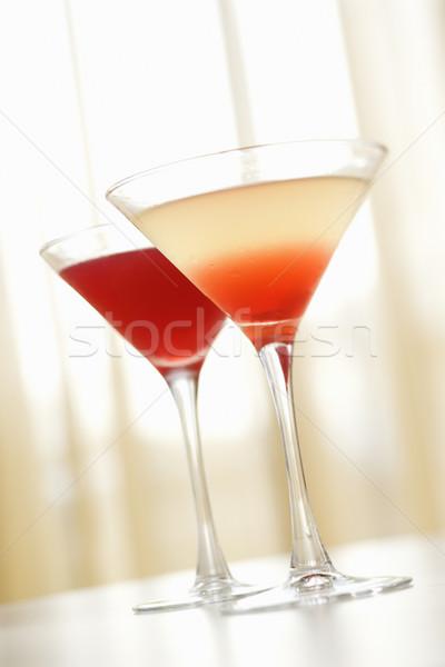 飲物 マティーニグラス 2 赤 混合した ストックフォト © iofoto