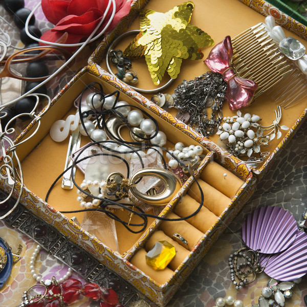 Open jewelry box. Stock photo © iofoto