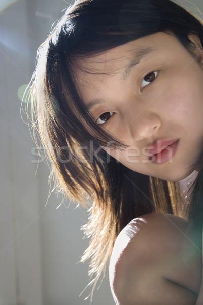 Joli jeunes asian femme Photo stock © iofoto