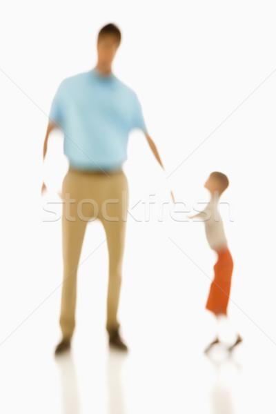 Père en fils soft accent père portrait Photo stock © iofoto