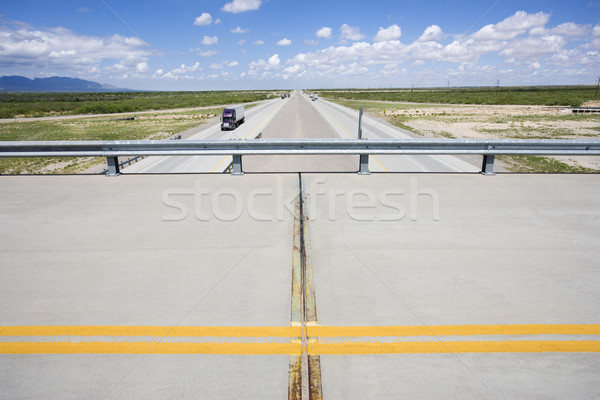 Stock photo: Overpass with highway.