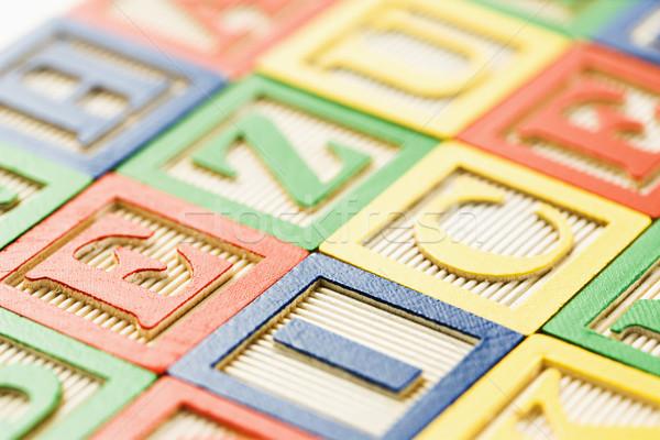 építőkockák ábécé épület játékok csoport levél Stock fotó © iofoto