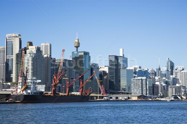 Sydney Australië centrum vrachtschip haven Stockfoto © iofoto