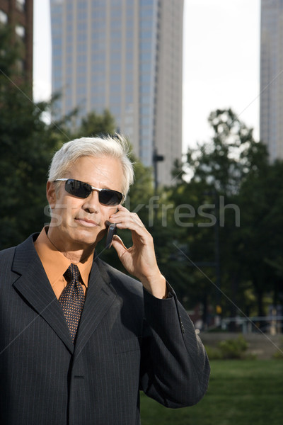 Outdoor businessman. Stock photo © iofoto