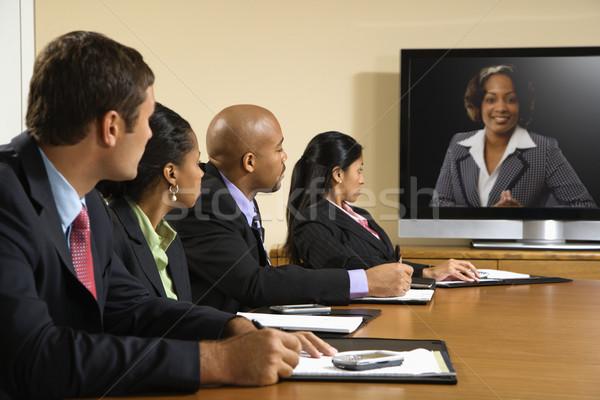 Zakelijke bijeenkomst vergadering conferentie tabel naar Stockfoto © iofoto