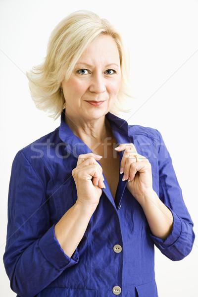 肖像 女性 スタジオ 魅力的な 成人 見える ストックフォト © iofoto