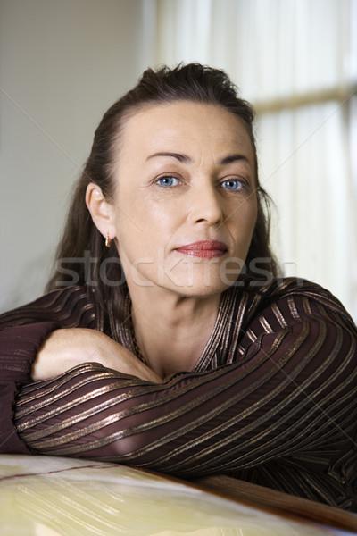 портрет взрослый кавказский женщины лице Сток-фото © iofoto