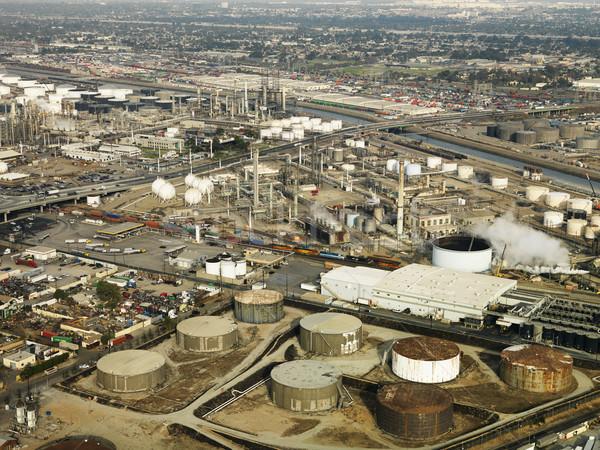 Légi olajfinomító légifelvétel folyadék raktár Los Angeles Stock fotó © iofoto
