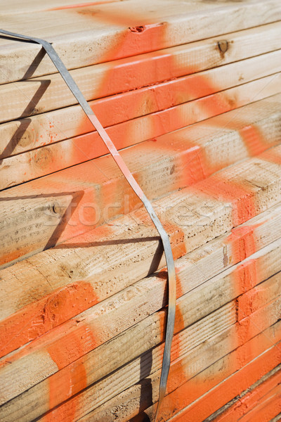 Bundle of lumber. Stock photo © iofoto