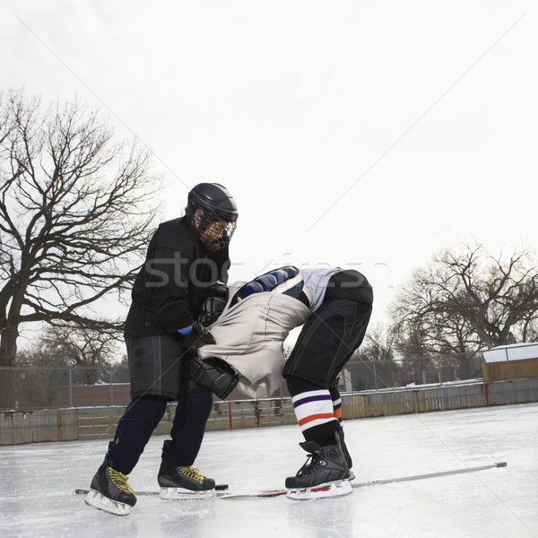 Ice hockey roughing. Stock photo © iofoto