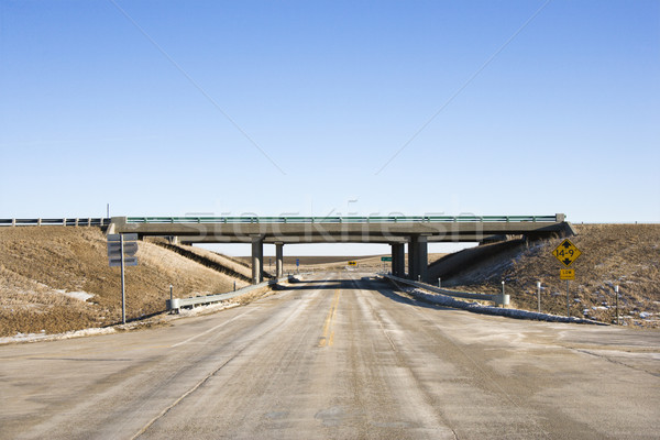 Highway with overpass. Stock photo © iofoto