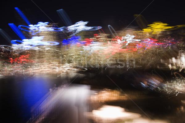 Wazig lichten Sydney Australië nacht skyline Stockfoto © iofoto