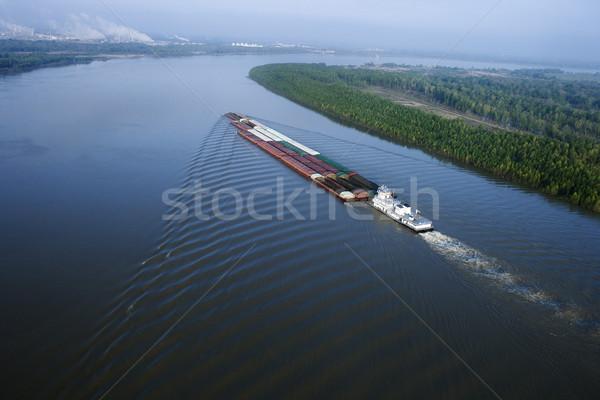 Barge on Mississippi. Stock photo © iofoto