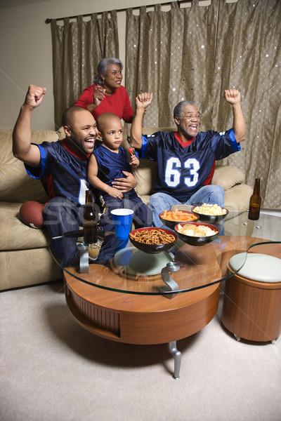 Aile izlerken spor üç nesil Stok fotoğraf © iofoto