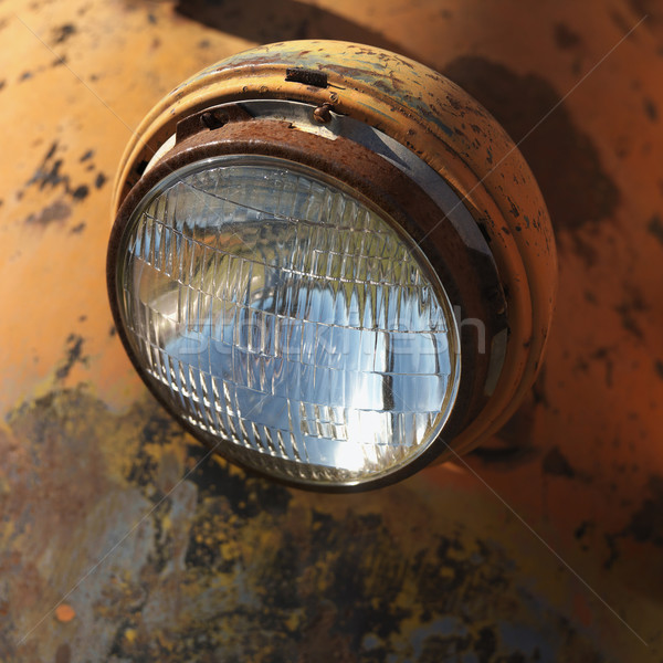 Headlight of old truck. Stock photo © iofoto